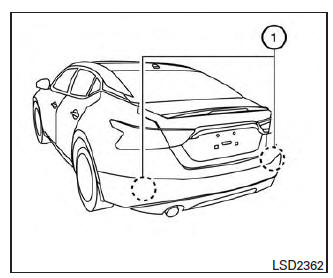 Nissan Maxima. Blind Spot Warning (BSW) (if so equipped)