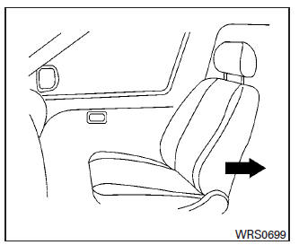 Nissan Maxima. Booster seat installation