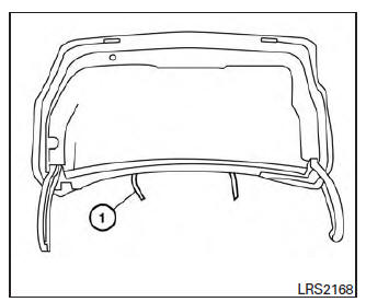 Nissan Maxima. Interior trunk access