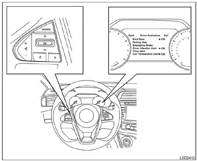 Nissan Maxima. How to enable/disable the RCTA system