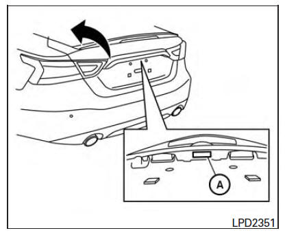 Nissan Maxima. Opening the trunk lid