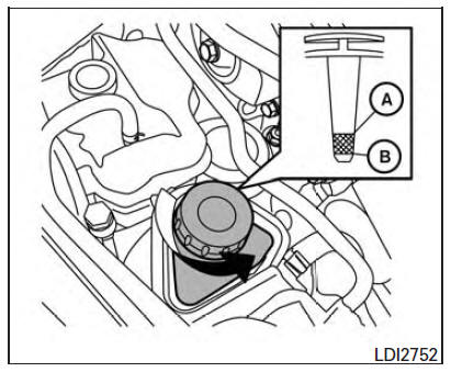 Nissan Maxima Owners Manual - Power steering fluid - Do-it