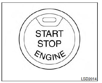 Nissan Maxima. Push-Button Ignition Switch