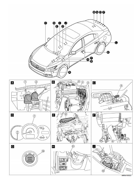 nissan maxima service and repair manual - door lock function