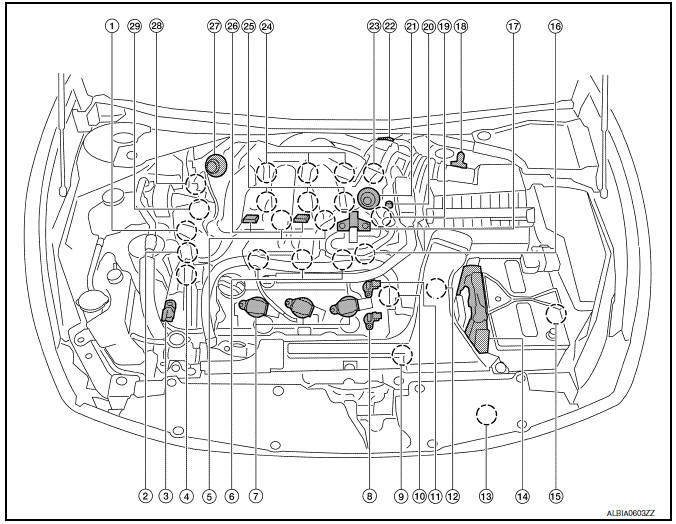 Nissan Maxima. Component Parts Location