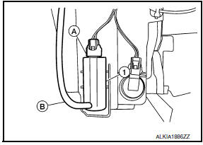Nissan Maxima. FRONT WASHER PUMP
