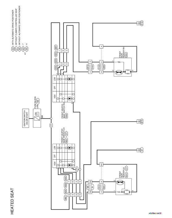 Nissan Maxima Service And Repair Manual Heated Seat Wiring Diagram