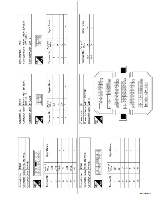 Nissan Maxima Service and Repair Manual - Heated seat ... on