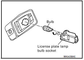 Nissan Maxima. LICENSE PLATE LAMP BULB
