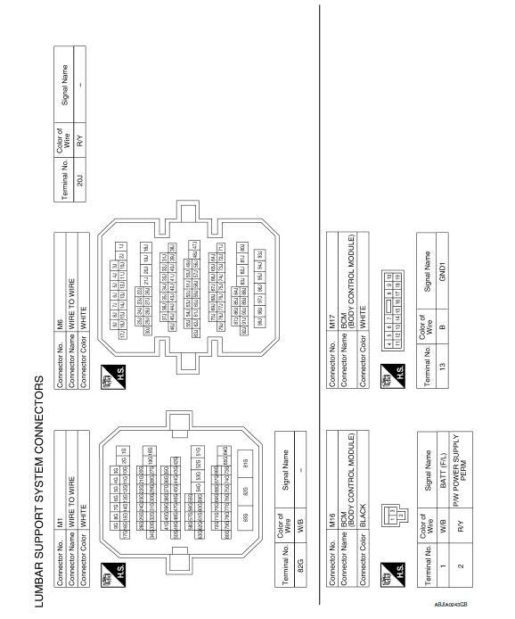 nissan body control module diagram