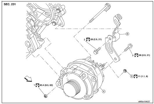 Nissan Maxima. Exploded View