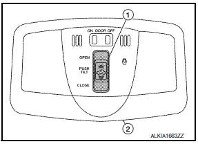 Nissan Maxima. SUNROOF SWITCH