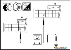 Nissan Maxima. CHECK CONTINUITY VERTICAL SYNCHRONIZING (VP) SIGNAL CIRCUIT
