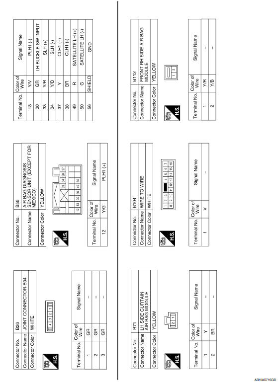 Nissan Maxima. Wiring Diagram - Except Mexico
