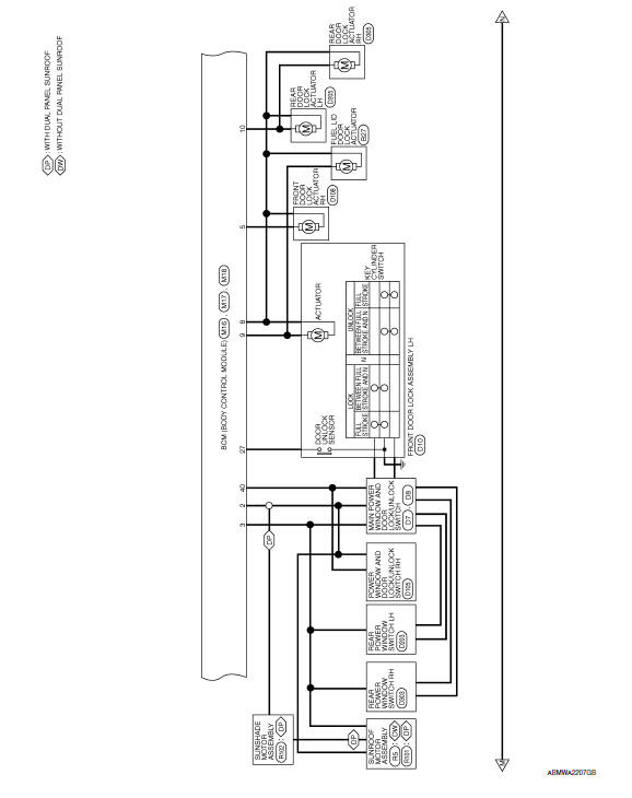 Nissan Maxima Service And Repair Manual Wiring Diagram Body Control System